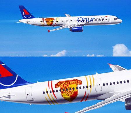 Onur Air Göztepe'yi bu tasarımlı uçakla taşıyacak