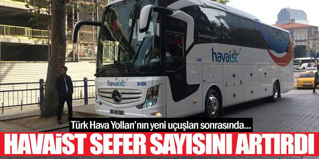 HAVAİST İstanbul Havalimanı seferlerini artırdı