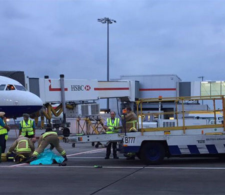 İngiltere'de Heathrow çıkışı