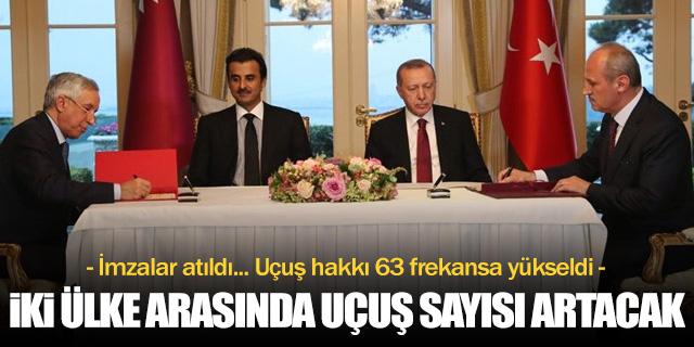 Türkiye ile Katar arasında frekans artışı