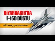 DİYARBAKIR'DA F-16 DÜŞTÜ