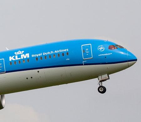 KLM uçağında elektrik arızası