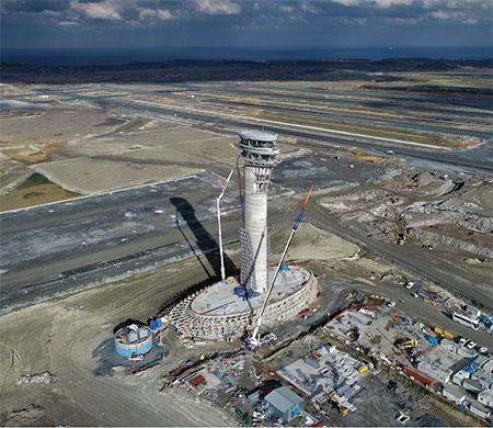 3. havalimanı kulesi 90 metreye ulaştı