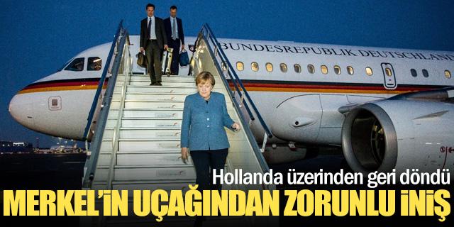 Merkel'in uçağı zorunlu iniş yaptı!
