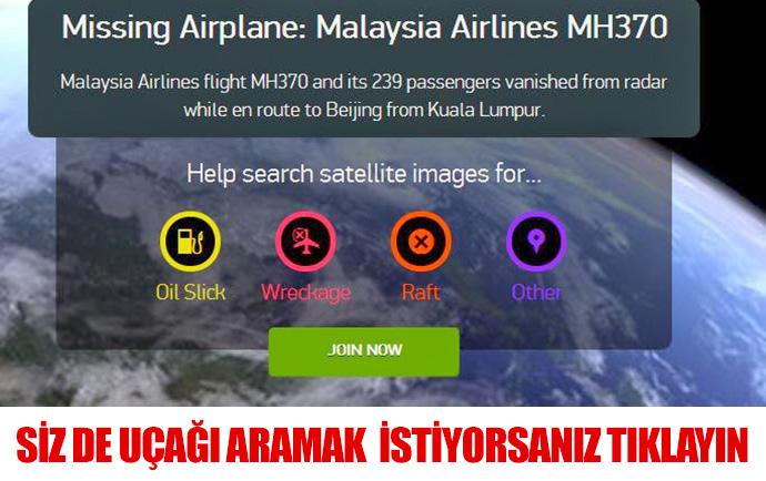 Kayıp Malezya uçağını aramak için tıklayın...