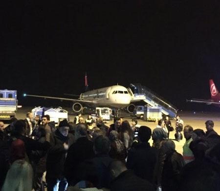 Trabzon- İstanbul uçağında gerginlik