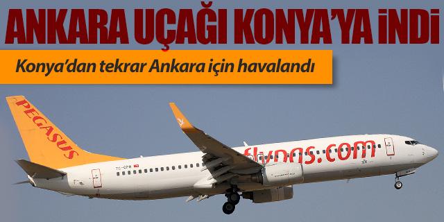 Pegasus'un Ankara uçağı Konya'ya indi