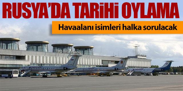 Havaalanı isimleri halka sorulacak