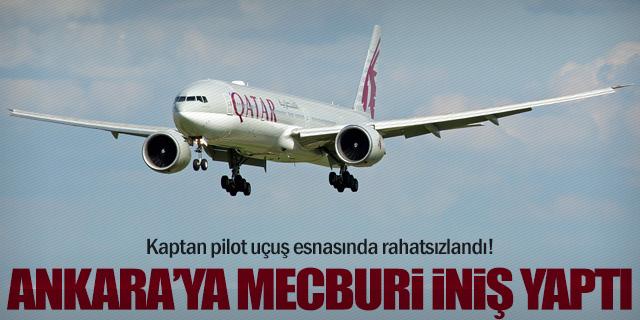 Qatar Airways uçağı Ankara'ya mecburi iniş yaptı