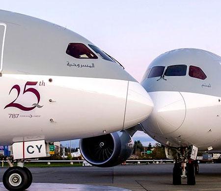 Qatar Airways iki yeni Dreamliner'ını teslim aldı