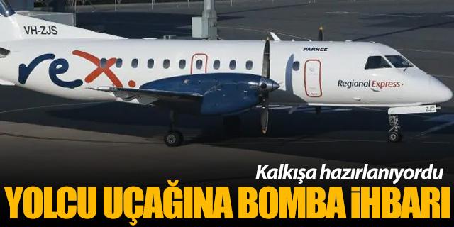 Kalkışa hazırlanan yolcu uçağına bomba ihbarı