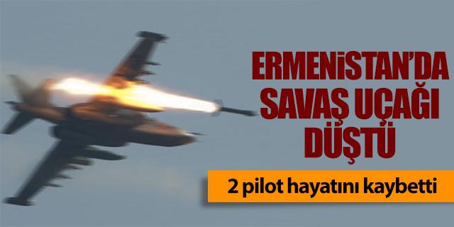 Ermenistan'da savaş uçağı düştü!