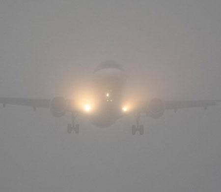 Yolcu uçaklarına sis engeli!