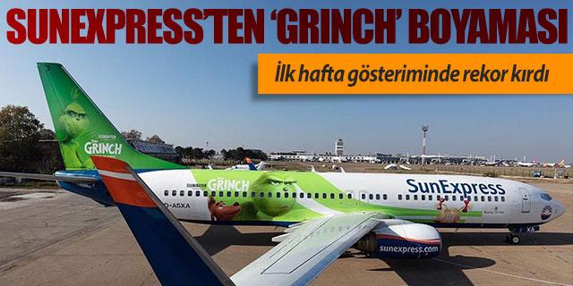 SunExpress bir uçağına 'Grinch' giydirmesi yaptı