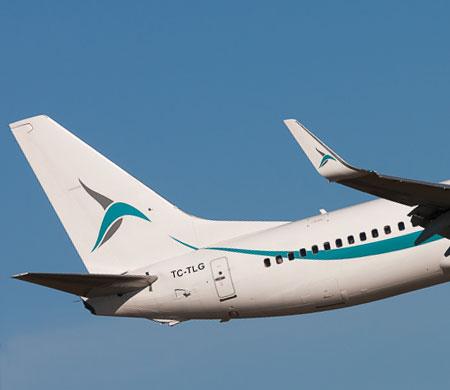 İniş takımları arızalanan Tailwind uçağı Antalya'ya döndü