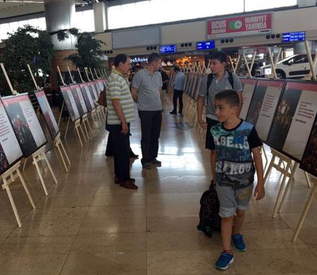 Atatürk Havalimanı'nda 15 Temmuz sergisi