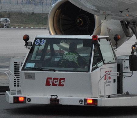 Bodrum Havalimanı'nda TGS personeli yaralandı