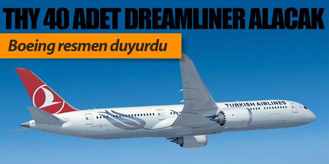 THY Boeing'den 40 adet Dreamliner alacak