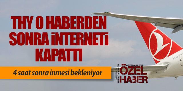 O haberden sonra THY uçaktaki interneti kapattı