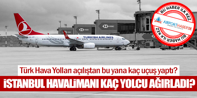 THY İstanbul Havalimanı'nda kaç yolcuya hizmet verdi?