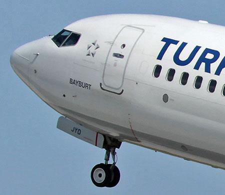 Atatürk Havalimanı'na inen THY uçağı kuşa çarptı