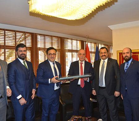 Türk-İş Başkanı'na ziyaret