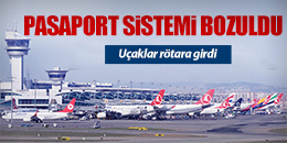 ATATÜRK HAVALİMANI'NDA PASAPORT SİSTEMİ ÇÖKTÜ! (FOTO)