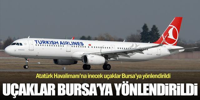 AHL'ye gelecek uçaklar Bursa'ya yönlendirildi