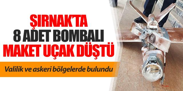 Şırnak'ta 8 adet bombalı İHA düştü
