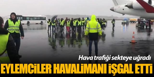 Fransa'da Sarı Yelekliler Nantes Havalimanı'nı işgal etti