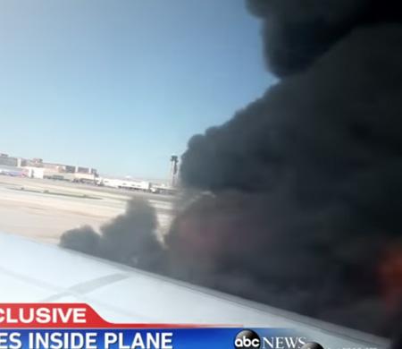 Uçak içinden British Airways uçağının yanma anları