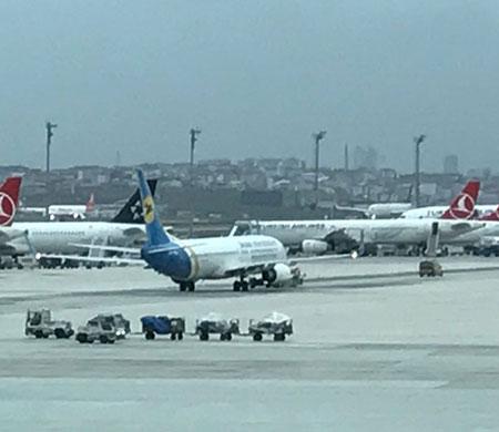 Atatürk Havalimanı'nda  iki uçağa bomba ihbarı