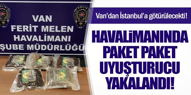 Havalimanında 5 paket uyuşturucu yakalandı!