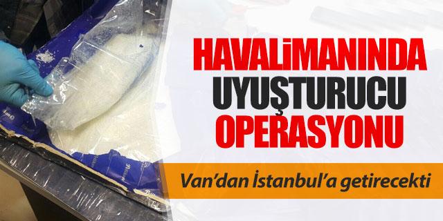 Ferit Melen Havalimanı'nda uyuşturucu operasyonu