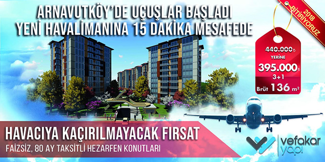 ARNAVUTKÖY'DE UÇUŞLAR BAŞLADI!!!
