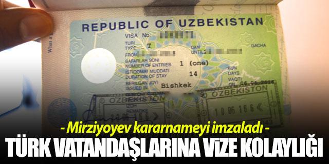Özbekistan'dan vize kolaylığı